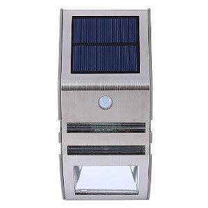 Luminaria Solar LED Sensor de Movimento 1W Prateada