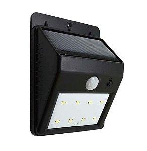 Luminaria Solar LED Sensor de Movimento 6 Leds