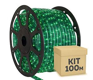 Mangueira LED Verde 100 metros Ultra Intensidade - À prova d'água