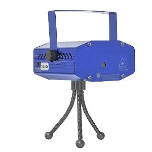 Mini Projetor Holográfico com Laser Colorido e Efeitos Especiais
