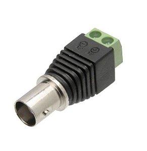 Plug Conector Borne BNC Fêmea Para Fita LED Cftv Câmera - Extra ou Reposição