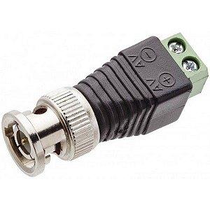 Plug Conector Borne BNC Macho Para Fita LED Cftv Câmera - Extra ou Reposição