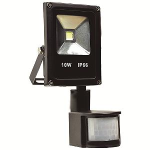 Refletor Holofote LED 10w Sensor de Presença Branco Frio Preto