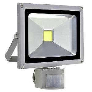 Refletor Holofote LED 20w Sensor de Presença Branco Frio