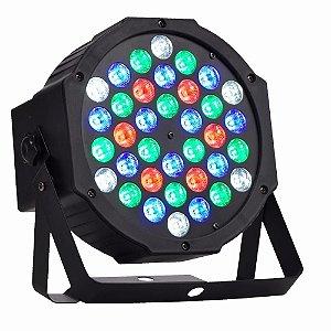 Refletor Holofote LED Par64 RGB Digital 36 Leds para Festa