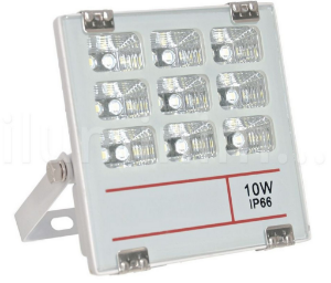 Refletor Holofote MicroLED 10W Multifocal Branco Frio Metálico
