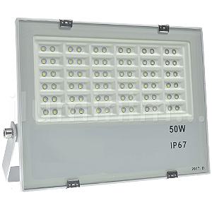 Refletor Holofote MicroLED 50W Multifocal Branco Frio Metálico