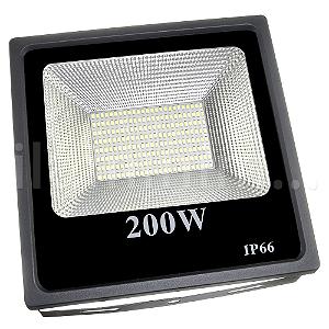 Refletor Holofote MicroLED Slim 200W Branco Frio