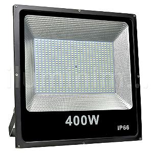Refletor Holofote MicroLED Slim 400W Branco Frio