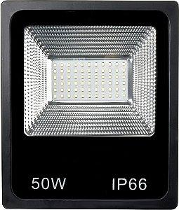 Refletor Holofote MicroLED Slim 50W Branco Frio