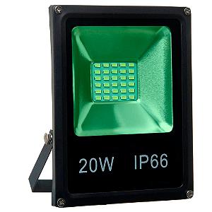 Refletor Holofote MicroLED SMD 20W Verde