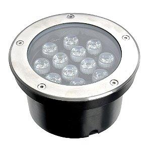 Spot Balizador LED 12W Branco Quente para Piso