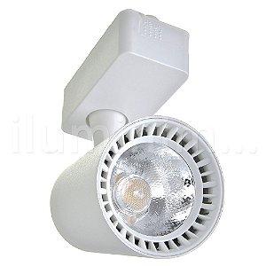 Spot LED 12W Branco Frio para Trilho Eletrificado Branco