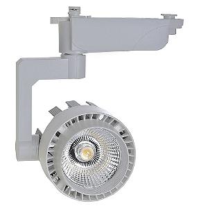 Spot LED 20W Branco Quente para Trilho Eletrificado Branco