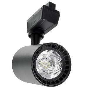 Spot LED 24W Branco Neutro para Trilho Eletrificado Preto