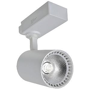 Spot LED 24W Branco Quente para Trilho Eletrificado Branco