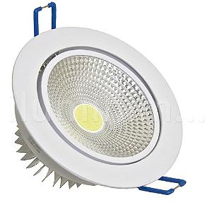 Spot LED COB 5W Embutir Direcionável Branco Frio