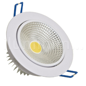 Spot LED COB 5W Embutir Direcionável Branco Quente