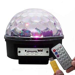 Lâmpada LED Globo 18W RGB Bola Maluca com Bluetooth Bivolt