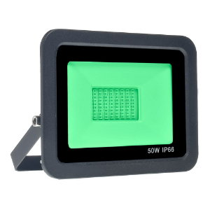 Refletor MicroLED Ultra Thin 50W Verde Black Type