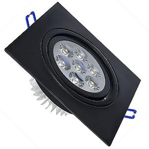 Spot 7W Dicróica LED Direcionavel Base Preta