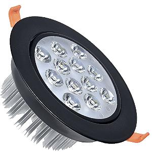 Spot Dicróica 12w LED Direcionável Corpo Preto