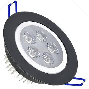 Spot Dicróica 5w LED Direcionável Corpo Preto e Branco Bicolor
