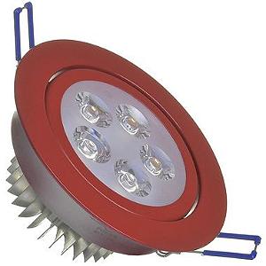 Spot Dicróica 5w LED Direcionável Corpo Vermelho