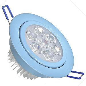 Spot Dicróica 7w LED Direcionável Corpo Azul