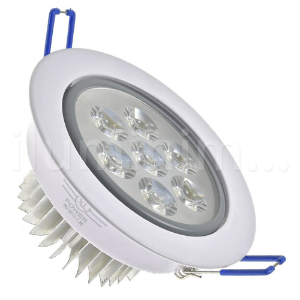 Spot Dicróica 7w LED Direcionável Corpo Branco e Cinza