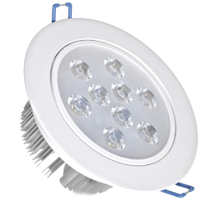 Spot Dicróica 9w LED Direcionável Corpo Branco