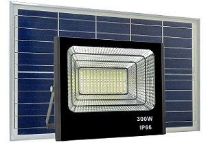 Refletor LED Solar 300W 80 Leds Auto Recarregável