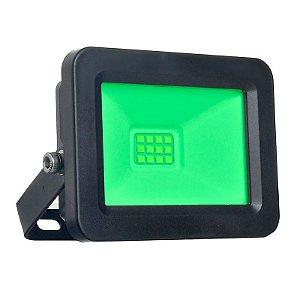 Refletor MicroLED Ultra Thin 30W Verde Black Type