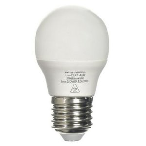 Lâmpada LED Bolinha E27 4w Branco Frio | Inmetro