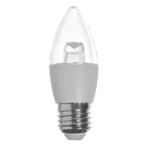 Lâmpada LED Vela Cristal E27 4,5W Bivolt Branco Frio | Inmetro