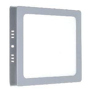 Luminária Plafon 12w LED Sobrepor Branco Frio Cinza