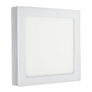 Luminária Plafon LED 20W Embutir/Sobrepor Quadrado 3 Cores