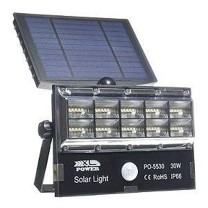 Refletor LED SMD Solar 30w Auto Recarregável