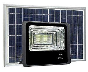 REFLETOR DE LED 200W COM PLACA SOLAR