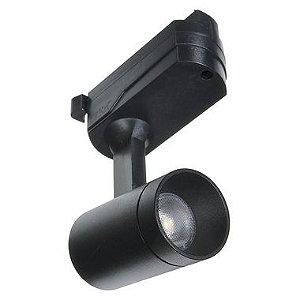 Spot LED 5W Branco Quente para Trilho Eletrificado Preto