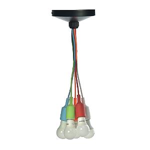 Pendente 5 Lâmpadas em Silicone Colorido