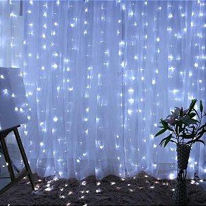 Cortina de LED 300 LEDs Cascata 3m x 3m Branco Frio Bivolt