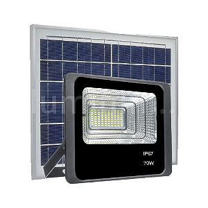 Refletor LED Solar 70w 49 Leds Auto Recarregável
