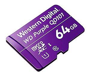 Cartão de memória 64Gb C10 - CFTV- Purple Western - WD