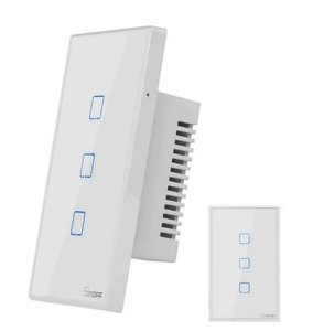 Interruptor wifi 3 botões Touch - Alexa/google - Sonoff