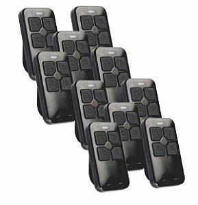 Kit 10pç Controle remoto 433hz Hcs Linear Dual Gate - Citrox