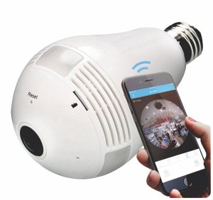 Câmera wifi Lâmpada panorâmica 360º