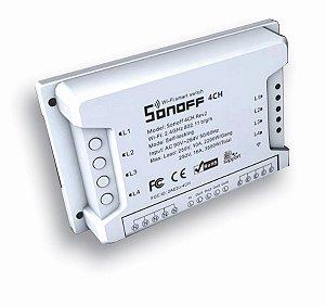 Relé wifi Interruptor 4 canais Automação Residencial - Sonoff