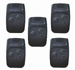 Controle Remoto Garagem 299mhz-Kit 5pçs-s/pilha-2 bot-Clip