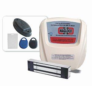 Kit Controle de acesso magnético 300kg